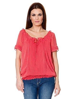 Cortefiel Camisa Topos (Rojo)