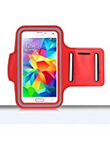 KELWORLD Sporty Gym Jogging Running Arm band Case For iPhone 6 4.5 Inch mobile in Red 1-year waranty