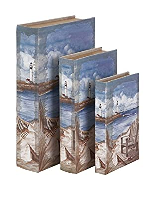 Set of 3 Seaside Book Boxes