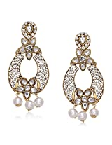 Meenaz Traditional Earrings Fancy Party Wear Kundan Moti Pearl Daimond Earrings For Women - TR123