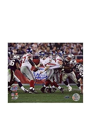 Steiner Sports Memorabilia Eli Manning Signed Super Bowl XLII Escaping Tackle Photo, 16