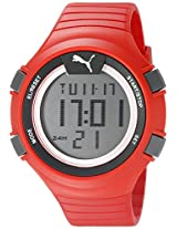 PUMA Unisex PU911281003 Faas 100 L red Digital Display Watch