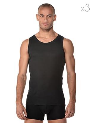 Anyma Pack Tirantes By Cotonella 3 Camisetas negro qqAwrC