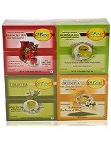 GTEE Hibiscus Tea Bags & Moringa Tea Bags & Tulsi Tea Bags & Green Tea Bags-Chamomile (10 Tea Bags X 4 PACKS)