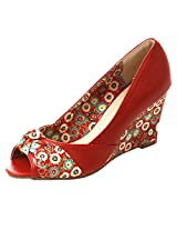 Fascino Floral Overlap Wedges -