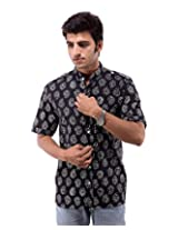 Albelishop Men's Button Front Shirt (FI001_XXL, Multi-Colour, XXL)