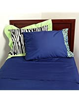 One Grace Place Jazzie Jungle Boy Full Sheet Set, Navy Blue