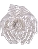 Jaipur Trade Silver Plated Welcome Diya (10 cm x 10 cm x 1.5 cm, Silver)