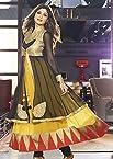 Bollywood Designer Salwar Kameez Black and Yellow Shilpa Shetty Georgette Anarkali Salwar Kameez with Dupatta Indian Party Wear Salwar Suits