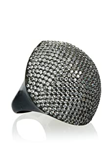 Joanna Laura Constantine Gunmetal Pavé Dome Ring