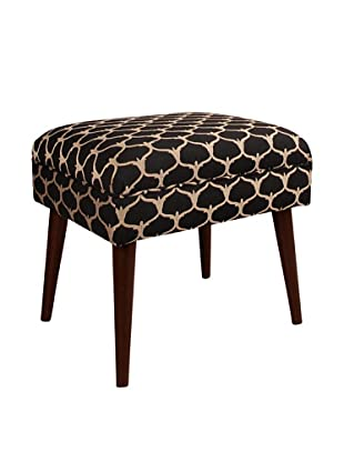 Skyline Furniture Ottoman with Cone Legs, Grenell Ebony