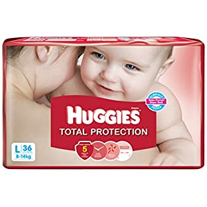 Huggies Total Protection Large Diapers (36 Count)