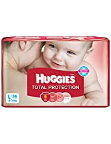 Huggies Total Protection Diapers Large - 36 Count