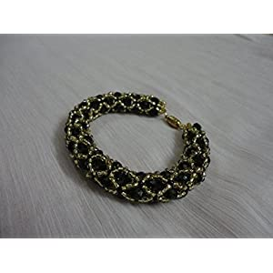 Mona Jewels Netted Crystal Bracelet
