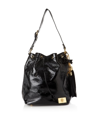 Just Cavalli Women's Gold Accented Drawstring Tote (Black)