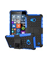 HIGAR Dual Layer Armor Protector Pouch Hard Case Cover For Microsoft Lumia 640 With Higar Retail Box - Blue
