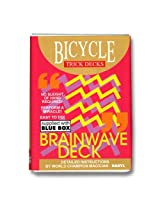 Bicycle Brainwave Playing Cards Trick Deck (BLUE) Rider Back Box