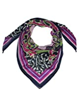 Uso Uno square scarf in fine wool printed