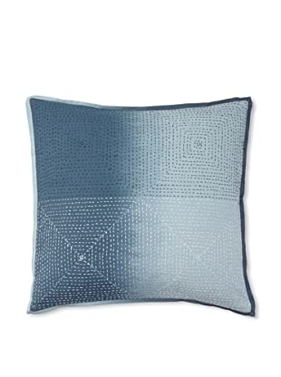 Vera Wang Shibori Decorative Pillow, Blue, 18