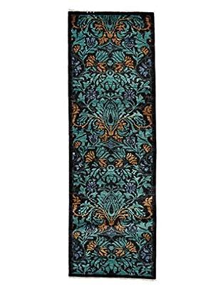 Darya Rugs Arts & Crafts Rug, Turquoise/Aqua, 2' 7