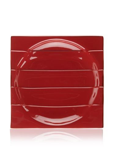 Modigliani Rosso Square Concave Plate, 12