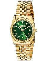 August Steiner Women's AS8170GN Analog Display Japanese Quartz Gold Watch