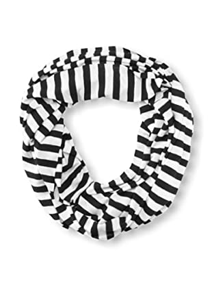 Raj Imports Women's Striped Infinity Scarf (Black/White)