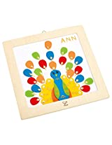 Hape - DIY Crafts - Proud Peacock Embroidery Kit