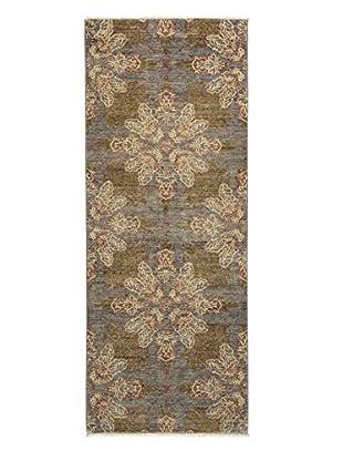 Darya Rugs Fine Modern Oriental Rug, Silver, 3' 2