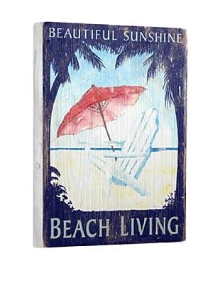 Artehouse Beach Living Reclaimed Wood Sign