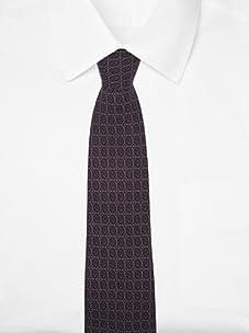 Hermès Men's Medallion Tie (Lavender/Taupe)