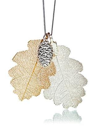 ANA Natural Leaves Set bestehend aus Kette und Anhänger  versilbert/vergoldet