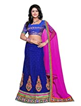 Surupta Blue Coloured Self Design Women's Lehenga Choli
