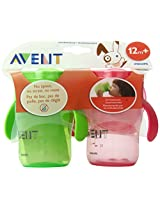 Philips AVENT 2 Count BPA Free Natural Drinking Cup Pink and Green 9 Ounce