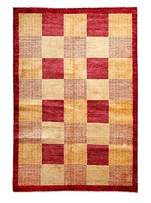 Darya Rugs Modern Oriental Rug, Red, 5' 7