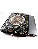 Devarshy Limited Edition Digital Print Quilted 17 Inch Premuim Laptop Sleeve Design - Old Coin On King George V
