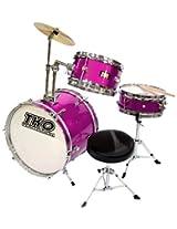 TKO 99TKO99DM 3-Piece Junior Drum Set, Deep Magenta