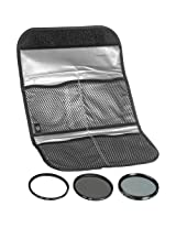 Hoya 46mm 3 Digital Slim Filter Set II (HMC UV / Circular Polarizer / ND8) with Pouch