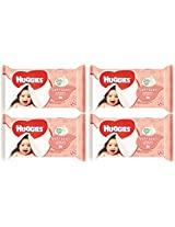 Huggies Soft Skin Baby Wipes with Shea Butter. Nature's Moisturiser. 64 Count Refill Pack (Pack of 4) 256 Total