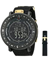 "Vestal Men's GDEDP06 Guide"" Stainless Steel Watch with Black Nylon Band"