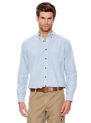Dockers Camisa Oxford con Botones En Cuello (azul claro)