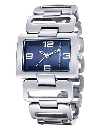 Adolfo Dominguez Watches 14044 - Reloj de Señora cuarzo brazalete metálico dial Azul