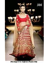 Bollywood Replica Alia Bhatt Red Lehenga Choli