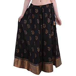 Black Hand Block Printedskirt
