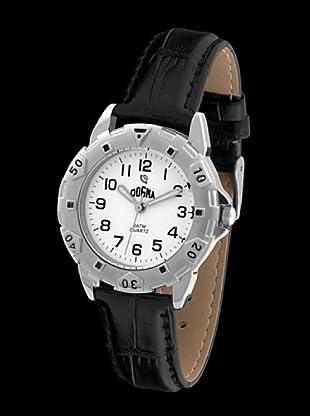 Dogma G1015 - Reloj de Caballero movimiento de quarzo con correa de piel negro