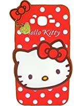 AE Cute Hello Kitty Silicone With Pendant Back Case Cover For SAMSUNG GALAXY A8 RED