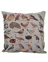 Twisha Birds Printed Pillow 12 X 12 X 4 Inch