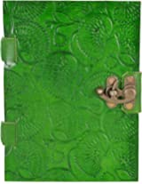 Craft Club Green Leather with Special Binding Notebook, 6 x 6 inches, 200 Pages