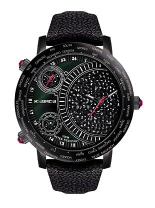 K&BROS 9146-1 / Reloj de Señora  con correa de piel negro
