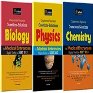 Chapterwise - Topicwise Questions - Solutions Physics, Chemistry & Mathematics for Medical Entrances Highly Useful for NEET 2013 (Set of 3 Books)